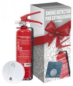 Dárkové balení - hasicí přístroj 1kg práškový + detektor kouře