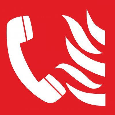 Brandmeldetelefon-Symbol