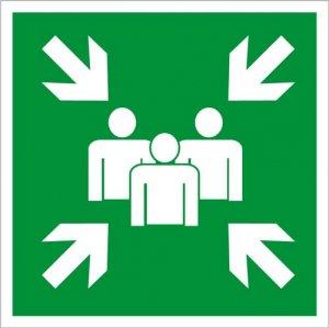 Bezpečnostní tabulka - Shromaždiště