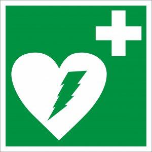 Bezpečnostná tabuľka - defibrilátor
