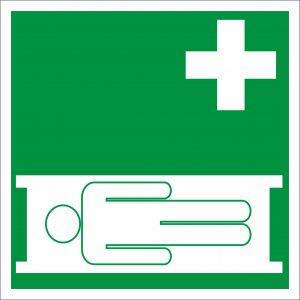 Bezpečnostná tabuľka - zdravotnícke nosidlá
