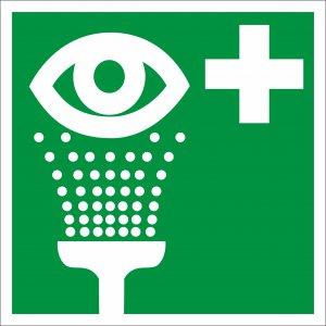 Bezpečnostní tabulka - Oční sprcha