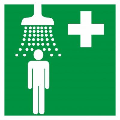 Bezpečnostní tabulka - Zdravotnická sprcha