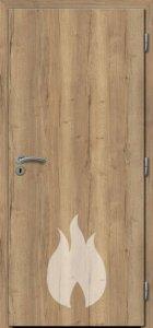 Dřevěné protipožární dveře - dub