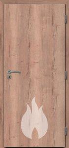 Dřevěné protipožární dveře - buk