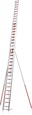 Predlžovací požiarnej rebrík 3-dielny