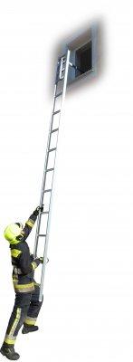JUST Typ FEG-110 požární žebřík se skládacím ocelovým hákem