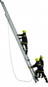 JUST Typ UK-DE výsuvný požární žebřík s lanovým ovládáním 2-dílný