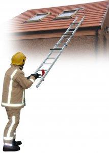 JUST Typ UK-RLFW široký střešní skládací požární žebřík