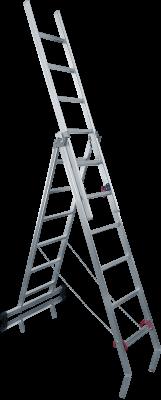 Hliníkový multifunkčný rebrík - 3 dielny