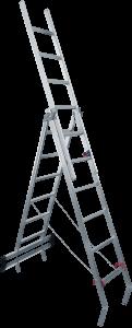 JUST Typ 53 - Hliníkový multifunkční žebřík 3 - dílný