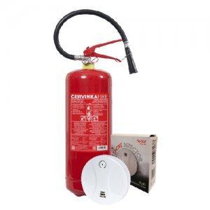 HAUSHALT SET - Feuerlöscher 6 kg  + Rauchmelder
