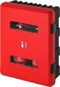 Kunststoff  Feuerlöscher-Schutzkasten für 2 Stk 6 / 9 kg Feuerlöscher