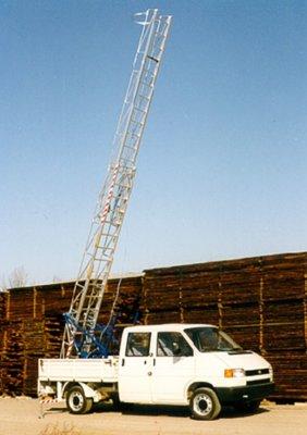 JUST Typ 66 - žebříková nástavba pro menší nákladní automobily