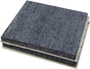 PROTECTA® FR Graphite Plate Vorgeformte selbstklebende Intumeszenzplatte für Mauerkasten 45 x 45 mm