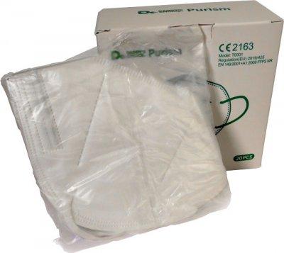 Purism Jednorázový filtrační respirátor KN95 / FFP2 20 ks v balení