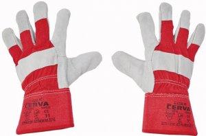 Červa EIDER pracovné a ochranné rukavice - hovädzia koža - balenie 12 párov