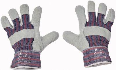 Červa GULL pracovní a ochranné rukavice - hovězí kůže - balení 12 párů