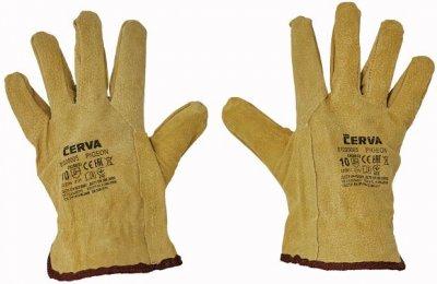 Červa PIGEON pracovné a ochranné rukavice - bravčová koža - balenie 12 párov