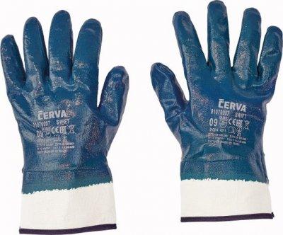 Getauchte Arbeitshandschuhe mit fester Manschette BLAU - 12 Paare Verpackung