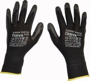 Červa BUNTING BLACK pracovné a ochranné rukavice - nylon máčaný v polyuretáne - balenie 12 párov