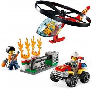 Lego City zásah hasičského vrtuľníka - horiace potrubie