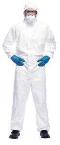 Ochranný oblek s kapucí - bílý
