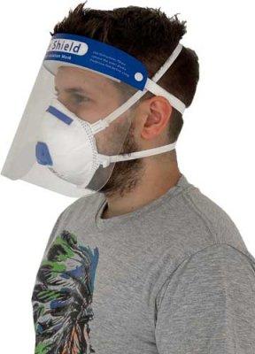 Ochranný štít na tvár s penovou výstužou