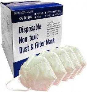 50 Stk - Einweg Atemschutzmaske KN95/FFP2
