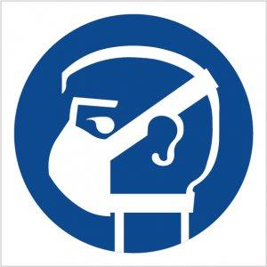 Bezpečnostní tabulka - příkaz k nošení ochranné roušky