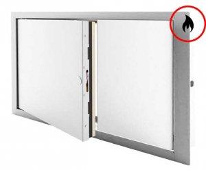 Brandschutz-Inspektionstür - zweiflügelig