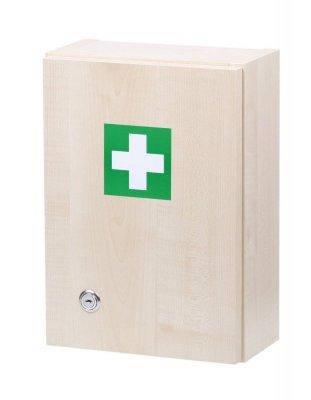Nástěnná lékárnička pro 5 osob - dekor dřevo