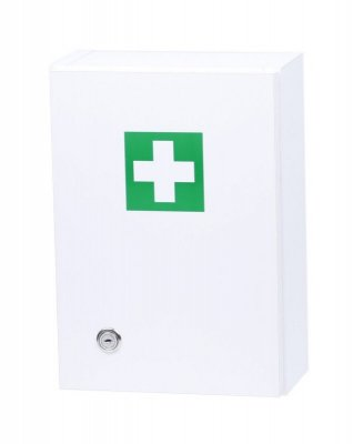 Prázdná nástěnná lékárnička - bílá