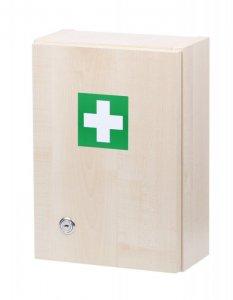 Štěpař prázdná nástěnná lékárnička - dekor dřevo