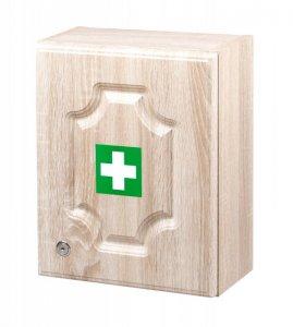 Stěpař nástěnná LUX lékárnička pro 10 osob - dub