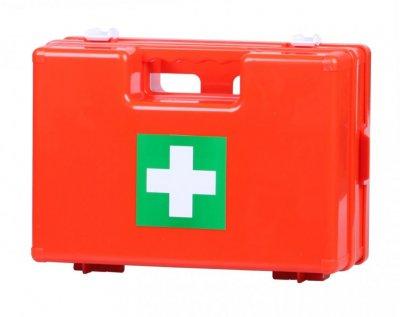 Prázdný plastový kufřík první pomoci s přihrádkami - střední