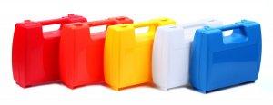 Prázdný plastový kufřík