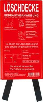 Löschdecke  1,2 x 1,2 m