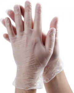 Taoto jednorázové vinylové rukavice 100 ks - transparentní