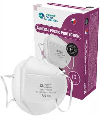 General Public Protection respirátor FFP2 NR CE 10 ks