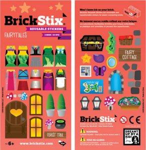BrickStix samolepky na stavebnici - hasičská tematika - 54 ks