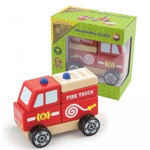 Studo Wood hasičské auto - skládací dřevěné