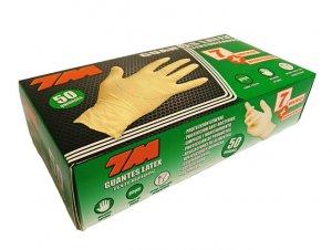 7M jednorazové latexové rukavice 50 ks