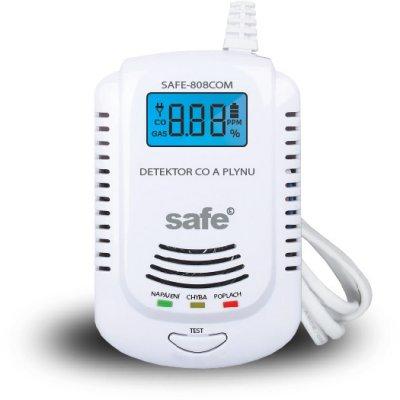 SAFE 808COM kombinovaný detektor CO, hořlavých a výbušných plynů s alarmem