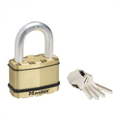Master Lock Excell M15BEURDLF mosazný visací zámek  64 mm