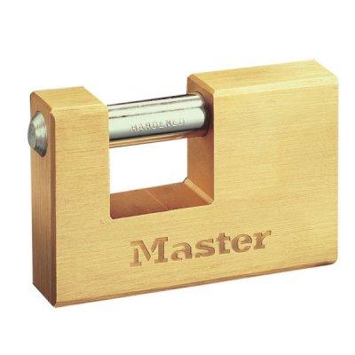 Master Lock 608EURD mosazný obdélníkový visací zámek 85 mm