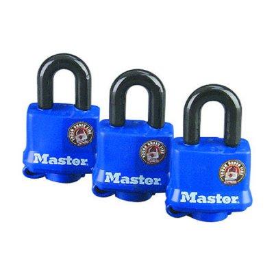 Master Lock 312EURTRI set 3ks odolný visací zámek 40 mm