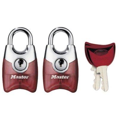 Master Lock Fusion 4630EURTAST set 2ks visacích zámků 20 mm (červený)