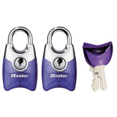 Master Lock Fusion 4630EURTAST set 2ks visacích zámků 20 mm (fialový)