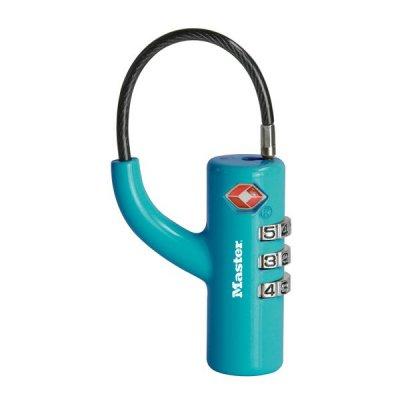 Master Lock TSA 4717EURDBLU visací kombinační zámek 18 mm